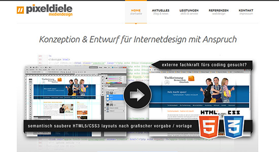 pixeldiele mediendesign Relaunch auf WordPress